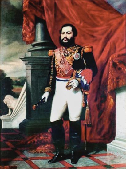 Portret Francisco Solano Lopeza z 1866 roku