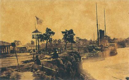 Port w Humaicie ok. 1868 r.