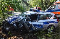 Polkowice: policjantka wjecha�a radiowozem w drzewo
