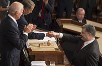 Petro Poroszenko w Kongresie USA: Ukraina potrzebuje broni