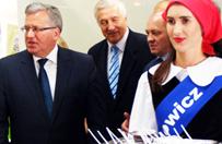 Bronis�aw Komorowski na otwarciu targ�w Polagra w Poznaniu