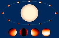 Mapa temperatury i pary wodnej na planecie pozas�onecznej