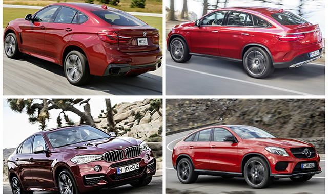 Mercedes benz gle coupe vs bmw x6 wp moto for Mercedes benz gle coupe vs bmw x6