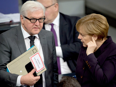 Frank-Walter Steinmeier ostrzega przed zaostrzaniem sankcji wobec Rosji