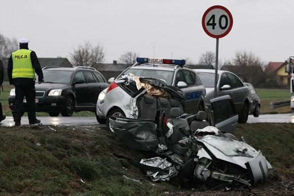 Wypadek na drodze krajowej nr 60