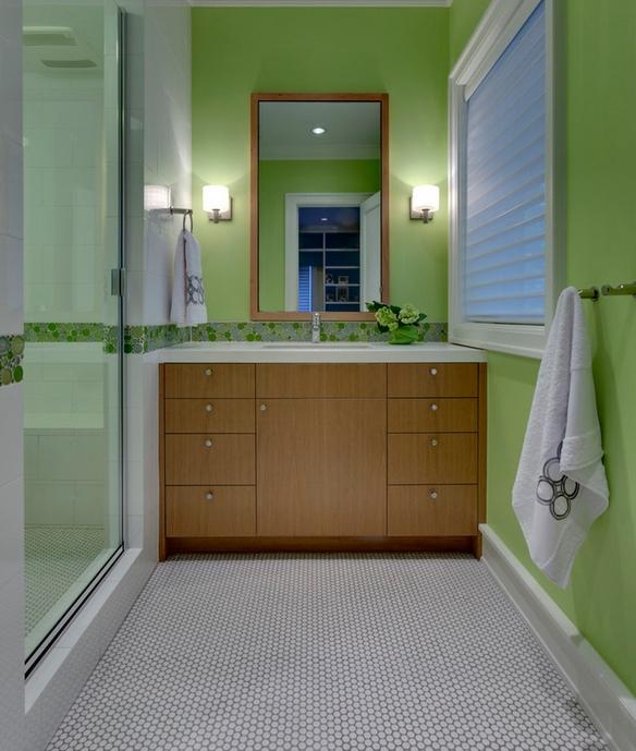 Badezimmer unterschrank grun