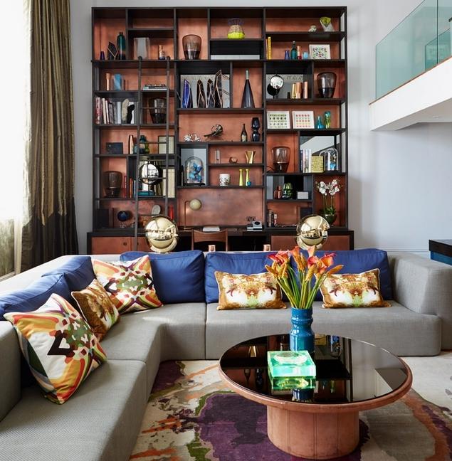 Modne kolory cian w salonie dom wp pl for Kolory scian w salonie
