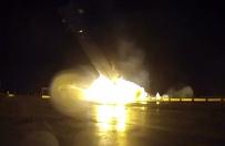 Eksplozja l�duj�cej rakiety Falcon 9 - ujawniono nagranie