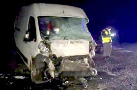 Zderzenia ciężarówki i dwóch busów