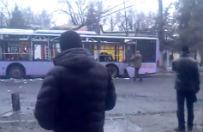 """Separaty�ci przywo�� mieszka�com """"winnego"""" ostrza�u przystanku w Doniecku"""