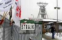 Strajk w kopalniach Jastrz�bskiej Sp�ki W�glowej