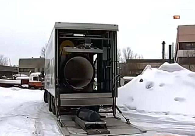 Rosyjskie mobilne krematoria na Ukrainie
