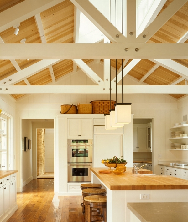 Kitchen Lighting Ideas For High Ceilings: Aranżacje Kuchni W Stylu Rustykalnym