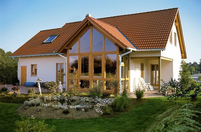 Image result for elewacja domu czerwony dach