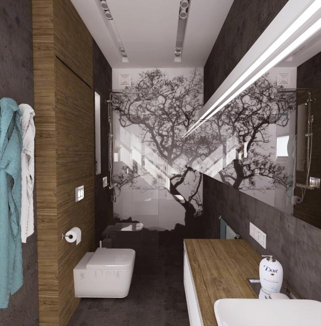 Nowoczesna łazienka W Betonie Zamiast Płytek Ceramicznych