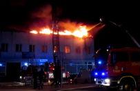 Po�ar w Tarnobrzegu. Dusz�cy dym unosi� si� nad miastem