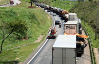 Protest kierowc�w ci�ar�wek sparali�owa� Brazyli�