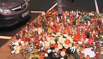 Kwiaty przed siedzibą Germanwings