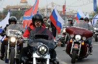 """Polscy motocykli�ci za wpuszczeniem """"Nocnych Wilk�w"""" Putina do Polski"""