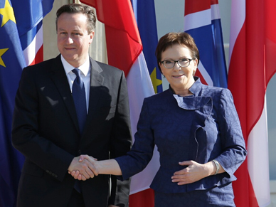 Trwa spotkanie Ewy Kopacz z Davidem Cameronem