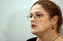 Pos�anka Krystyna Paw�owicz protestuje
