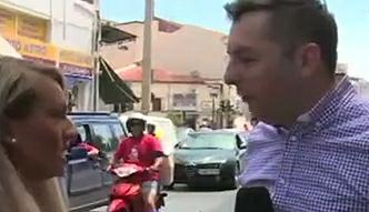 Greczynka uspokaja reportera TVN24