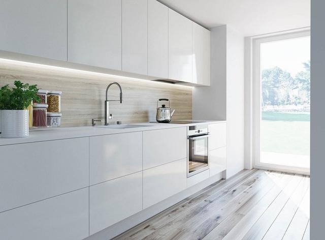 Biała kuchnia projekty, wady i zalety  Strona 9  Dom   -> Kuchnia Minimalistyczna Biala
