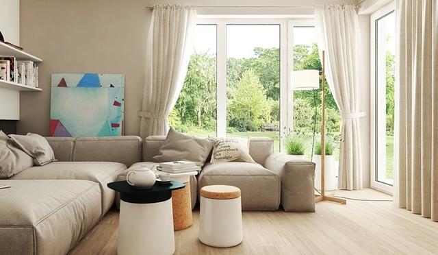 Pomysły Na Nowoczesny Salon Narożne Okna Jak Obraz Wp Dom