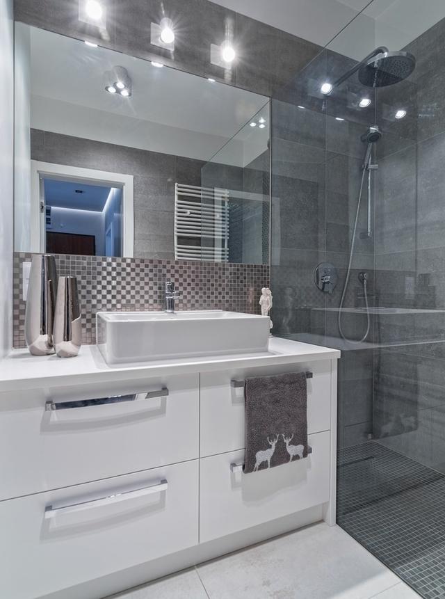Szara łazienka Lśniąca Elegancja Wp Dom