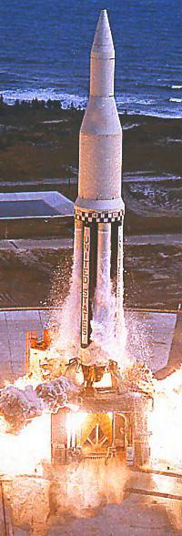 Start rakiety Saturn I skonstruowanej przez Wernhera von Brauna