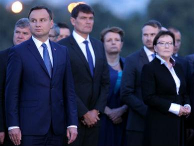 Ewa Kopacz i Andrzej Duda nie podali sobie r�k na Westerplatte