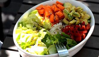 Wegetariańskie sałatki na lunch