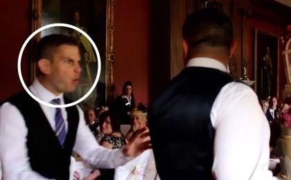 Zaskakujące zachowanie kelnera na weselu. Młoda para zamarła z przerażenia