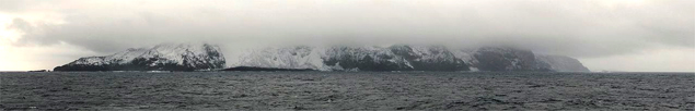 Zachodnie wybrzeże wyspy Bouveta