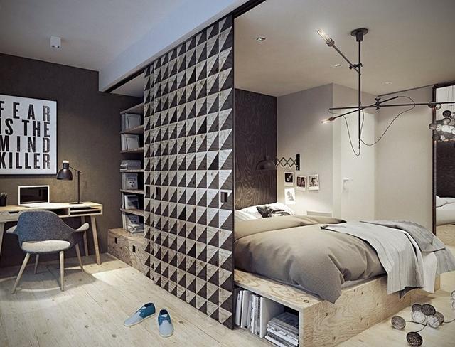 Salon z sypialnia