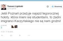 """Radny PO z Poznania o bawi�cych si� na Starym Rynku: """"ho�ota, kt�ra mieni si� studentami"""""""