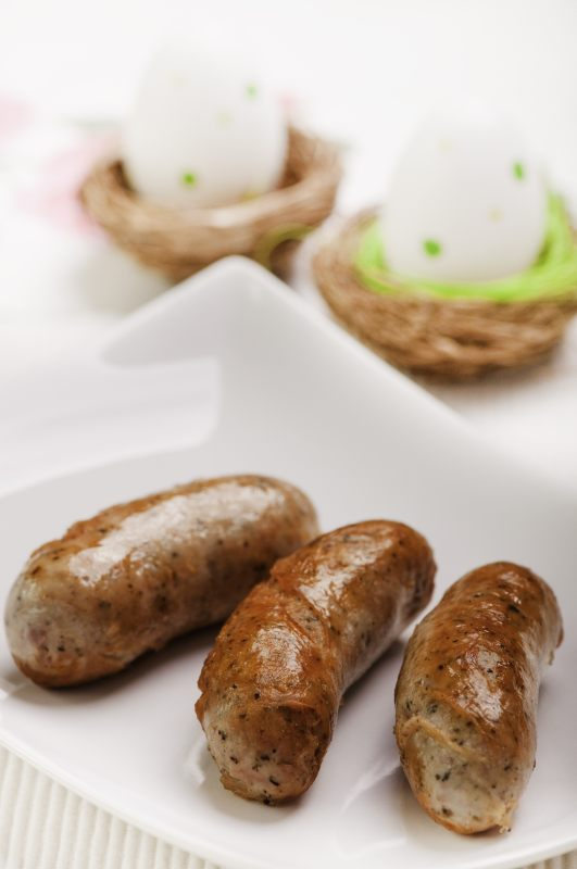 Biała kiełbasa zapiekana (przepis Małgorzaty Caprari   -> Kuchnia Polska Biala Kielbasa