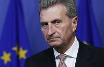"""Oettinger obraził Chińczyków, kobiety i mieszkańców belgijskiej Walonii. """"Tak mi się tylko wymsknęło"""""""