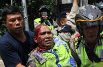 Indonezja: kilka eksplozji i strza�y w centrum D�akarty