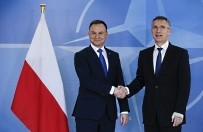 Prezydent Andrzej Duda spotka� si� z sekretarzem generalnym NATO Jensem Stoltenbergiem