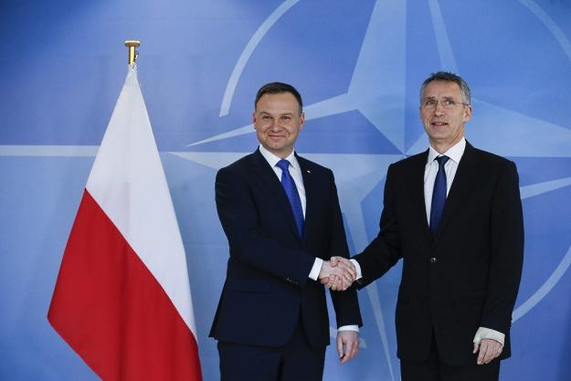Andrzej Duda i Jens Stoltenberg