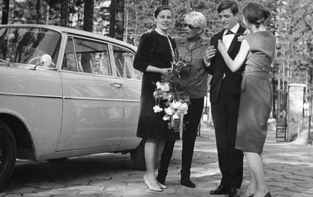 Zofia Komedowa w dniu ślubu Agnieszki Osieckiej i Wojciecha Frykowskiego w 1963 r. Związek trwał dwa lata