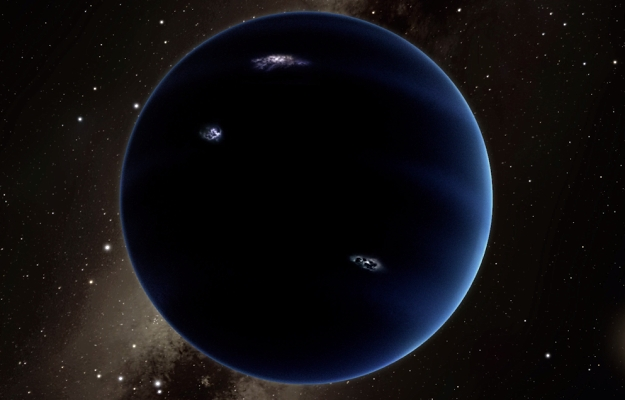 Ilustracja przedstawiająca wyobrażenie widoku z odkrytej planety w kierunku Słońca