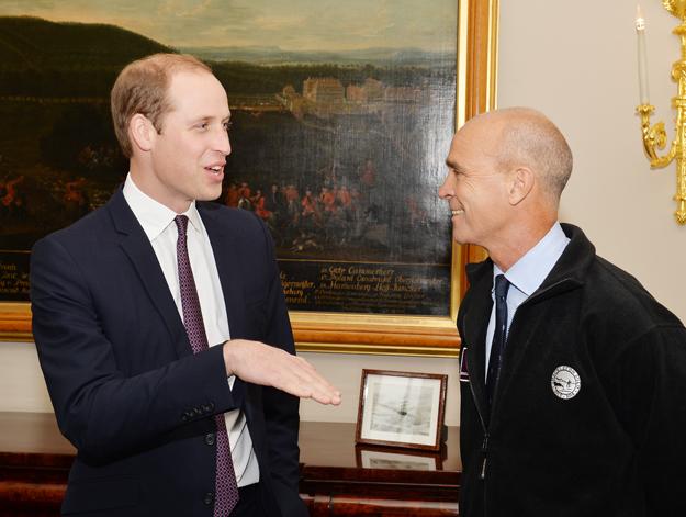 Książę William i Henry Worsley przed wyruszeniem na wyprawę - październik 2015 roku.