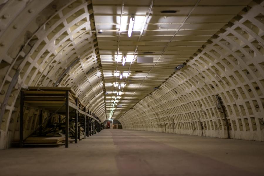 Podziemny schron, stacja metra Clapham South