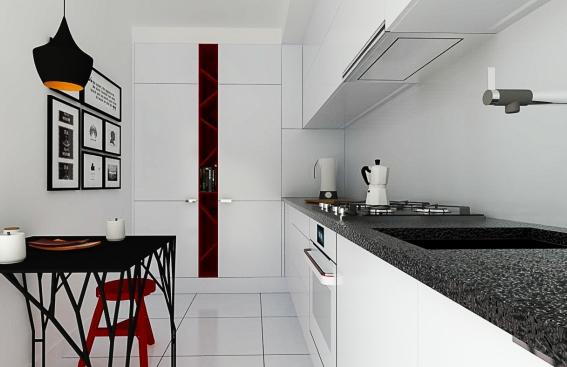 Kuchnia bez okna Kompleksowa metamorfoza  Projekty  Amica IN  -> Kuchnia Amica Z Roznem Obrotowym