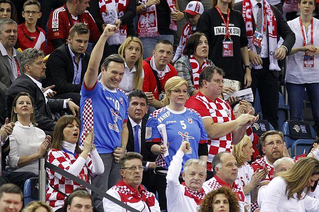 Prezydent Chorwacji, minister sportu, nasi siatkarze. VIP-y na meczu ...