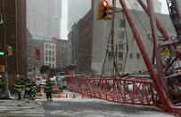 Ogromny d�wig run�� na Manhattanie. Spad� na przechodni�w