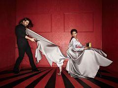 Osi Ugonoh w sukniach projektu Patryka Wojciechowskiego i Marry Me