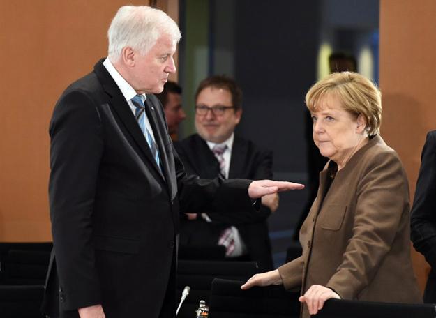 Premier Bawarii Horst Seehofer i kanclerz Angela Merkel.